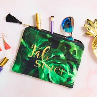 Personalised Fab Sister Velvet Pouch
