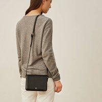 Personalised Italian Leather Shoulder Bag Lucca, Chestnut/Tan/Dark Chocolate