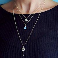 Triple Layered Drop Necklace Set