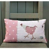 Polka Dot Cushion With Hen And Egg