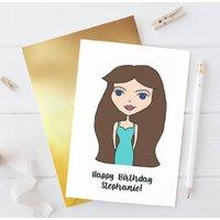 Personalised Dollybelles Birthday Card