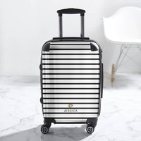 Striped Personalised Luggage