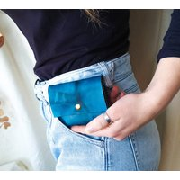 Leather Tie Dye Coin And Card Purse