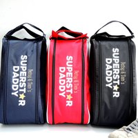 Personalised Superstar Dad Boot Bag, Navy/White/Red