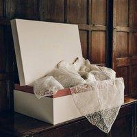 Bespoke Wedding Dress Box, Gold/Silver/White