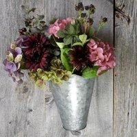 Zinc Wall Vase