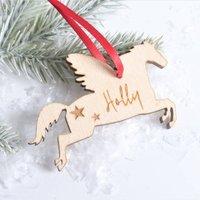 Personalised Unicorn Christmas Decoration