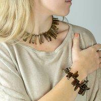 Quartz Point Necklace And Bracelet Set