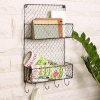 Home Storage Wall Mounted Magazine Rack