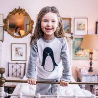 Personalised Penguin Childrens Pyjamas