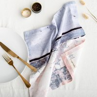 Abstract Textured Cotton Napkin Aspect Stripe