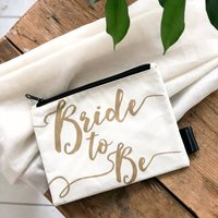 'Bride To Be' Bride Make Up Bag