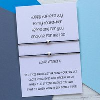 Double Wish Bracelet For Godfather And Godchildren