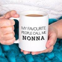 Personalised Favourite People Call Me Mug