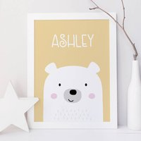 Cute Bear Name Print For Children