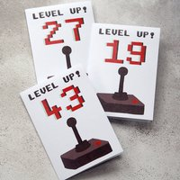 'Level Up' Personalised Age Birthday Card