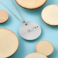 Our World Statement Round Disc Pendant