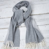 Reversible Grey Blanket Scarf / Wrap