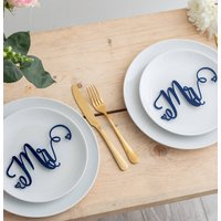 Mr And Mr Wedding Place Settings Table Decorations