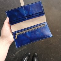 Personalised Leather Purse, Tie Dye Leather