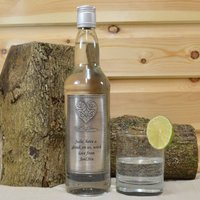 Personalised Vodka Pewter With Love Label