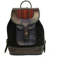 Mochita Backpack, Black/Mustard/Fuchsia