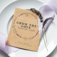10 Grow The Love Lavender Seed Packet Favours