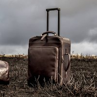 Personalised Wheeled Leather Trolley Case Piazzale