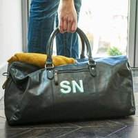Hand Painted Leather Personalised Holdall