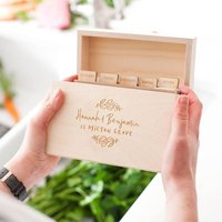 Personalised New Home Wooden Recipe Box