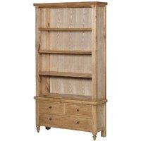 Chester Oak Parquet Three Drawer Open Bookcase