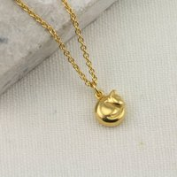 9ct Gold Tiny Cat Necklace, Gold