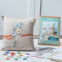 Floral Finch Cross Stitch Cushion Kit