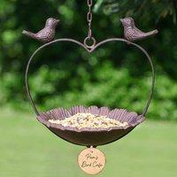 Personalised Floral Heart Garden Bird Feeder