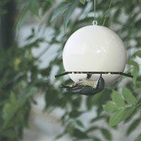 Birdball Peanut Bird Feeder, Lime/Blue/Grey