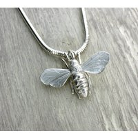 Sterling Silver Honey Bee Necklace, Silver