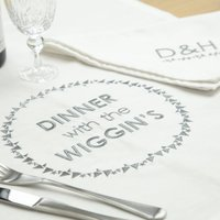 Personalised Family Table Cloth And Napkin Linen Set
