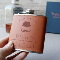 Down The Hatch Faux Leather Hip Flask