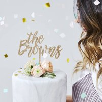 Charming Personalised Wedding Cake Topper