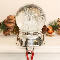 Prancer Snow Globe Christmas Stocking Hanger