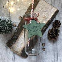Personalised Milk For Santa Glass Bottle