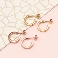 18ct Gold Vermeil Huggie Mini Hoop Earrings, Gold