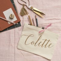 Personalised Glitter Name Pouch