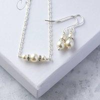 Bridesmaid Swarovski Pearl And Crystal Jewellery Set, Ivory/Pastel Pink/Pink