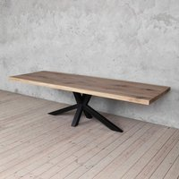 Diamond Grey Oak Solid Wood Dining Table