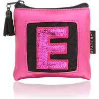 Personalised Purse, Almond/Pink/Midnight Blue