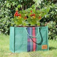 Personalised Tartan Eco Jute Garden Grow Bag