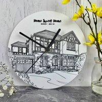 Personalised House Portrait Clocks