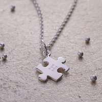 Engraved Jigsaw Necklace