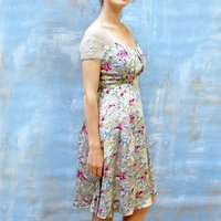 Floral Vintage Print Summer Print Tea Dress